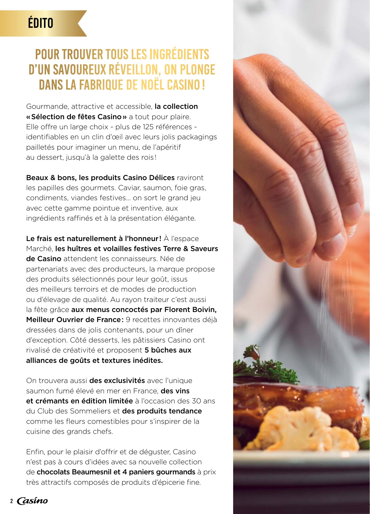 Menu De Noel Grand Chef.Casino La Fabrique De Noel Food 2018
